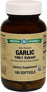 Natural Vitamin Co. - Garlic 500 mg, Odorless Garlic Extract (Allium sativum) (from 5 mg of a 100:1 Extract...