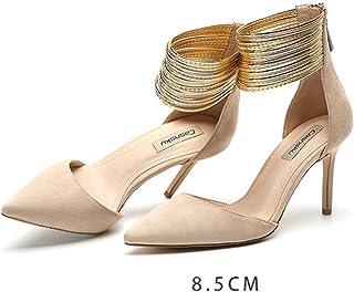brillante en brillo bonito diseño Venta barata Amazon.es: zapatos color champagne - Zapatos para mujer ...