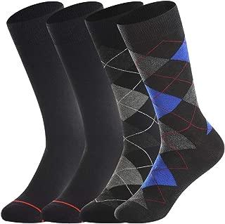 Men's Merino Wool Dress Socks,Wool Socks,Winter Thermal Socks,Lightweight,Black & Argyle Pattern,Warm Casual Socks,Men' Gift