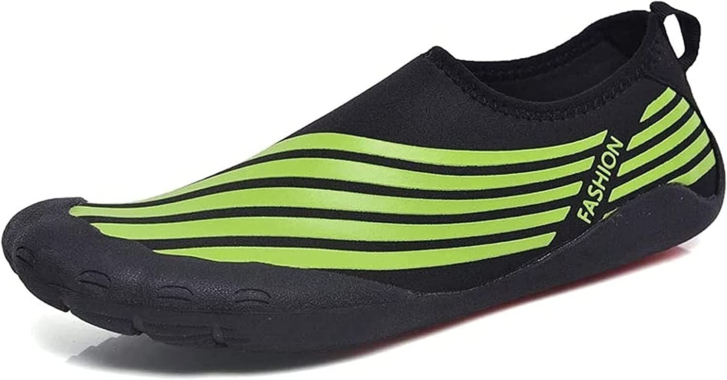 LSZ Swimming Shoes Men's Swimming Diving Light and Breathable Speed Interference Water Shoes Soft Bottom Treadmill Shoes for Men Outdoor Beach Shoes Swimming Shoes (Color : Green, Size : 39 EU)
