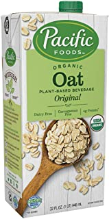 Pacific Foods Organic Oat Original Plant-Based Milk, 32oz, 12-pack (06570)