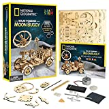NATIONAL GEOGRAPHIC Wooden Model Kit - DIY Solar-Powered Car Includes One 3D Puzzle to Bui...