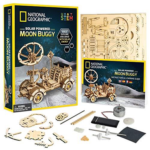 NATIONAL GEOGRAPHIC Modellbausatz aus Holz, solarbetriebenes Auto, 3D-Puzzle zum Aufbau eines Mondes Buggy, STEM Spielzeug für Mädchen und Jungen, die an Weltraum und Technik interessiert sind