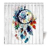 yisumei Hem pesos cortina cortina de ducha atrapasueños Multicolor Madera HD de imagen, poliéster,...