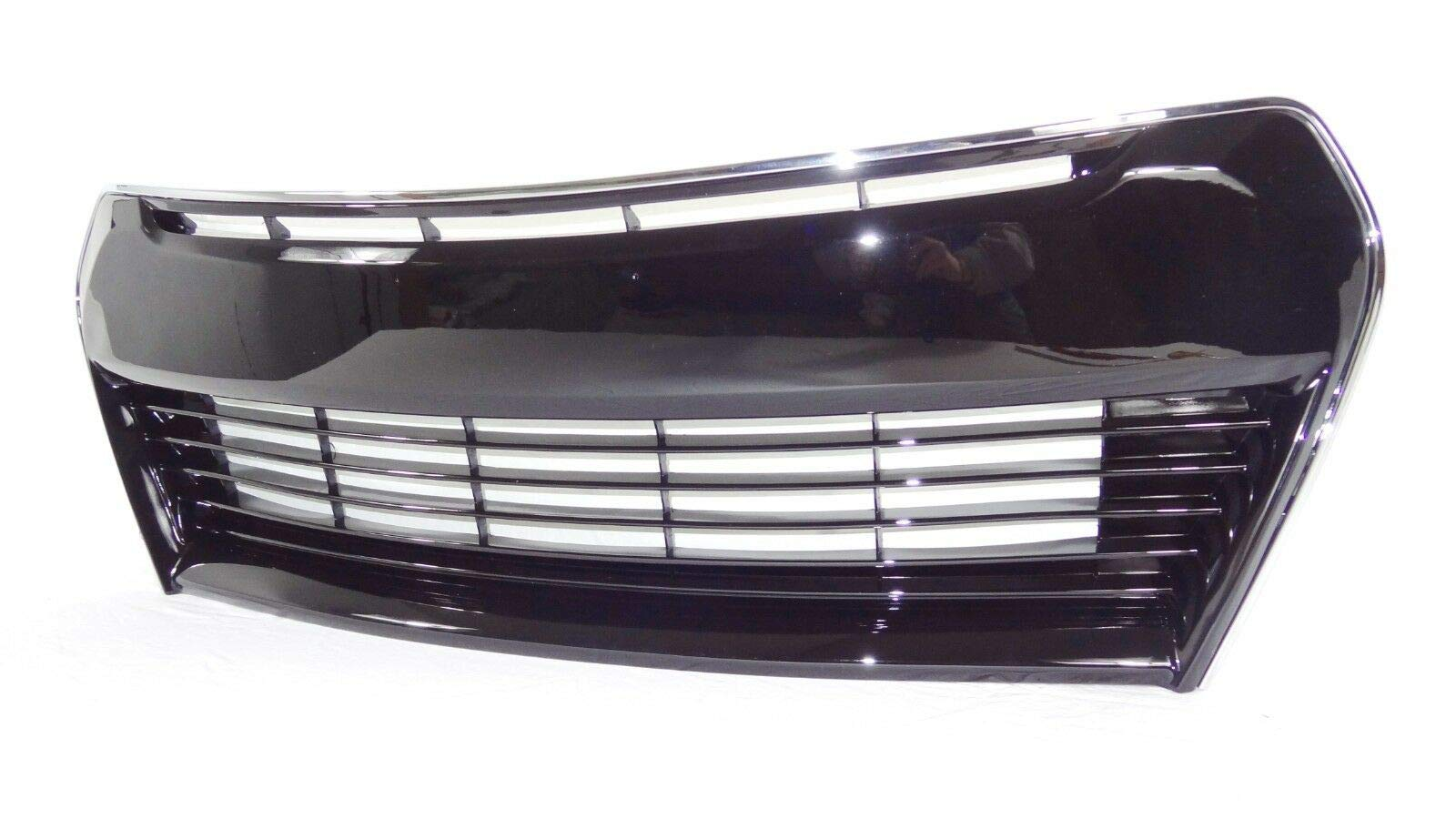 2pcs Glossy Black Set 2014 2015 2016 by AutoModed AutoModed Upper /& Lower Grilles fit for Toyota Corolla S