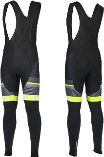 Threeface Pantaloncino con Bretelle per Ciclismo Duc Calzoncini abbiglimento Bici MTB Giallo Fluo