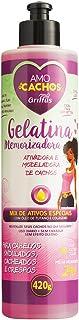 Amo Cachos Gelatina Memorizadora, Griffus Cosméticos, Multicor, 420 g