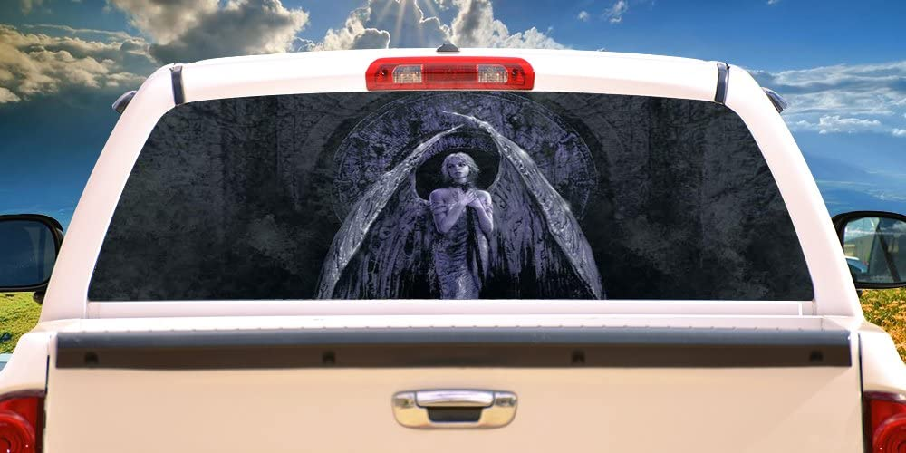 Ranking TOP3 SignMission ANGELRear Window Graphic Back Vi Truck SUV Over item handling ☆ View Thru