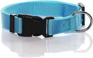 SALO Durable Nylon Dog Collar, Adjustable Dog Collars for Medium Large Dogs, 1 Inch Wide (Blue)
