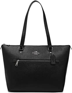 Leather Gallery Shoulder Tote Purse - #F79608 - Black, Medium
