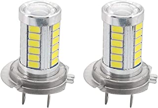 H7 LED Fog Light Bulb 6000K White 33 SMD DRL CREE LED Replacement Driving Lights 1800 Lumens Super Bright(Pack of 2)