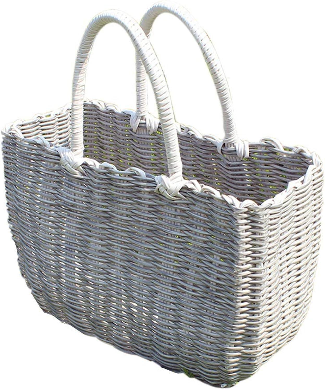 Hand bag Artwork Plastic Rattan Vine Multicolor (About 30  13  21cm, 35  14  24cm) (color   D, Size   30  13  21cm)