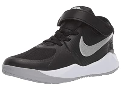 Nike Kids SINGLE SHOE Flyease Team Hustle D 9 (Little Kid) (Black/Metallic Silver/Wolf Grey) Kid