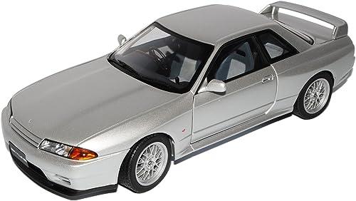 AUTOart Nissan Skyline GT-R R32 V-spec II Silber Coupe 1989-1993 77346 1 18 Modell Auto mit individiuellem Wunschkennzeichen