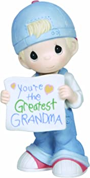 Precious Moments, You're The Greatest Grandma, Bisque Porcelain Figurine