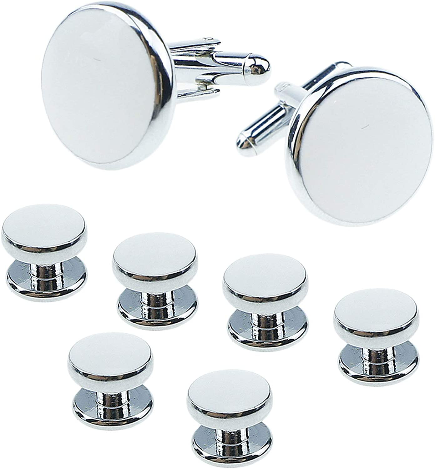 UJOY Cufflinks and Max 57% OFF Studs Set Some reservation Blanks Tuxedo 4 Shirt Colors Round