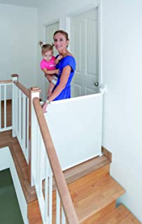 Lascal KiddyGuard Assure, White, Retractable Baby Safety Gate