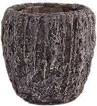Little Green House Cement Brown Vase - XL