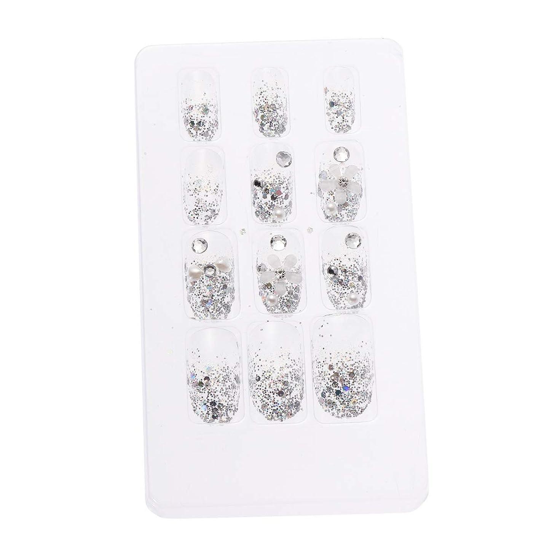 乱雑なインディカクラシックLURROSE 24ピースネイルステッカー 人工ダイヤモンド装飾ネイルアート用ブライダル女性