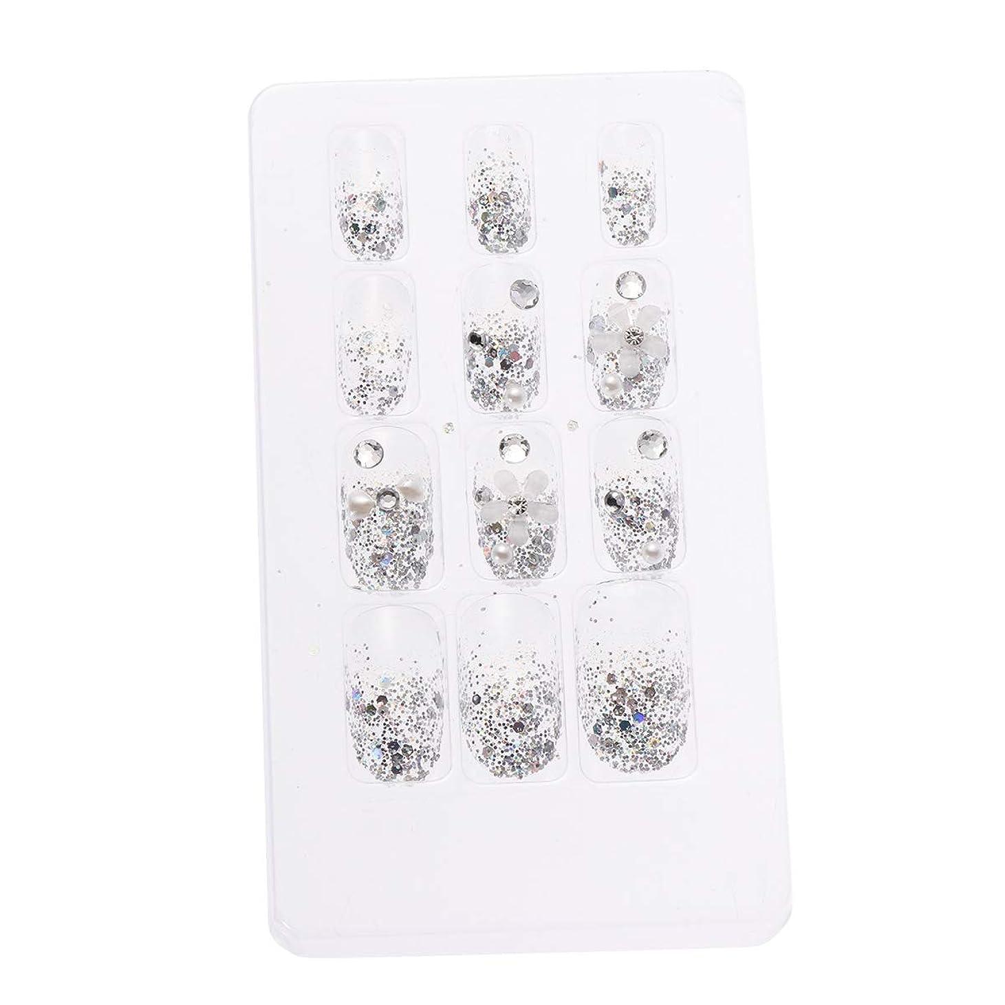 名声どちらかバストLURROSE 24ピースネイルステッカー 人工ダイヤモンド装飾ネイルアート用ブライダル女性