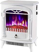SLT Inicio Calentador, Relleno de la Chimenea, con una cavidad incorporada Independiente Chimenea Calentador de Llama Ajustable LED con Chimenea (Color : White)