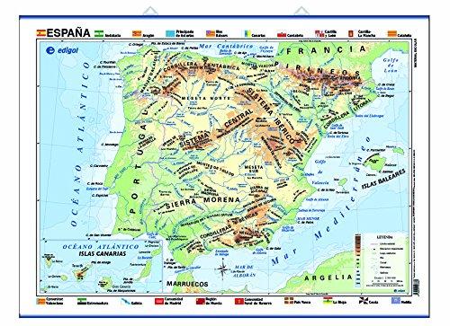 España, físico/político: Mapas Póster () (Cartografía)