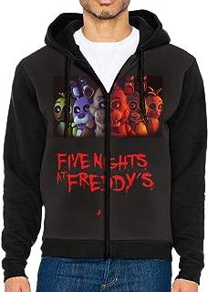 Men's Hooded Zip Front Sweatshirt Five Nights at Freddy Zip-Up Hoodie Sweats Hooded Sweatshirt