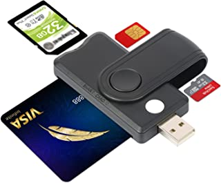 2021年最新型【e-Tax】USB接触式 ICカードリーダライター マイナンバー対応 スマートカードリーダー 電子納税 公的個人認証サービス SDカード MicroSDカード ライター 確定申告 住民基本台帳カード対応 多機能 CAC スマー...