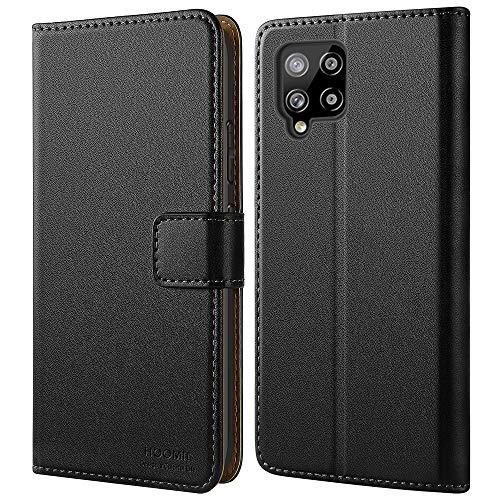 HOOMIL Handyhülle für Samsung Galaxy A42 5G Hülle Leder Tasche Flip Hülle Schutzhülle Kompatibel mit Samsung A42 5G Hülle Schwarz