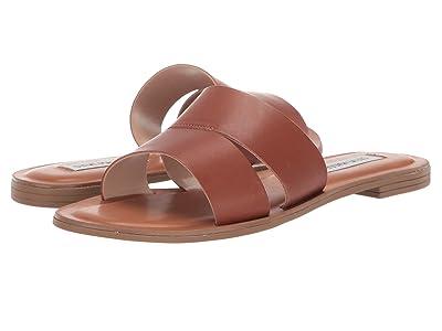 Steve Madden Alexandra Flat Sandals (Cognac Leather) Women