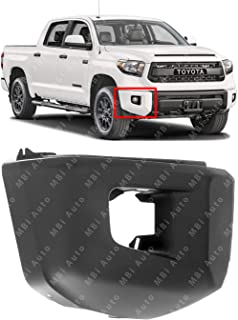 MBI AUTO - Primered, Passengers Side Front Right RH Bumper Cover End for 2014-2019 Toyota Tundra w/Out Park Assist 14-19, TO1005182