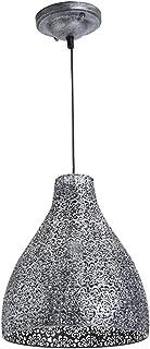 Lusiel Zephir, lámpara colgante de metal, 40 W, gris, diámetro 28 x altura 32 cm