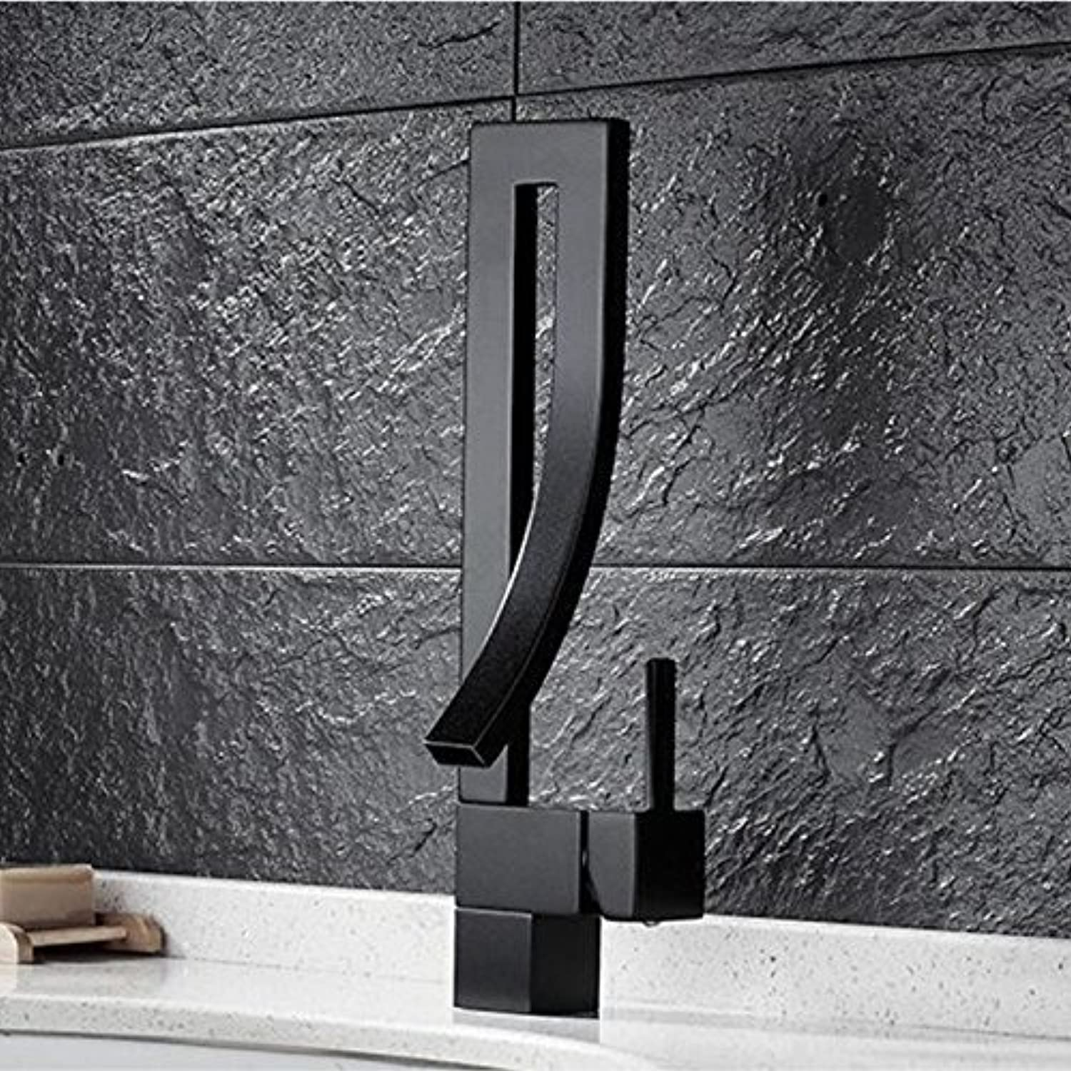 Brass Bath Rooms, Place The wash Basin Mixer wash Basin Mixer Mounted Bridge, hot or Cold wash Basin Mixer tap, Black