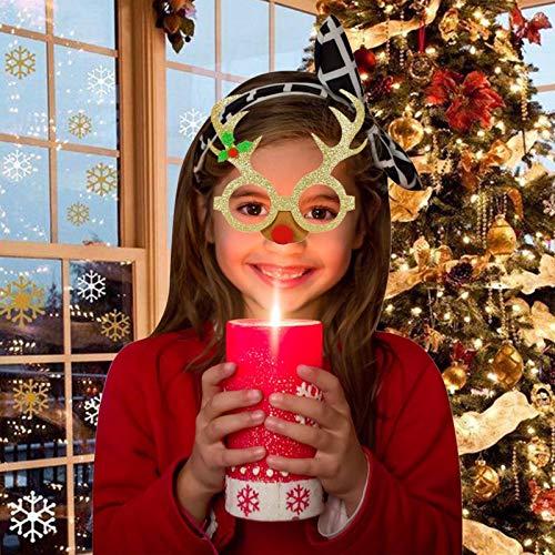 WSIWEIL Christmas Glasses Frame Decoration Santa Claus Reindeer...