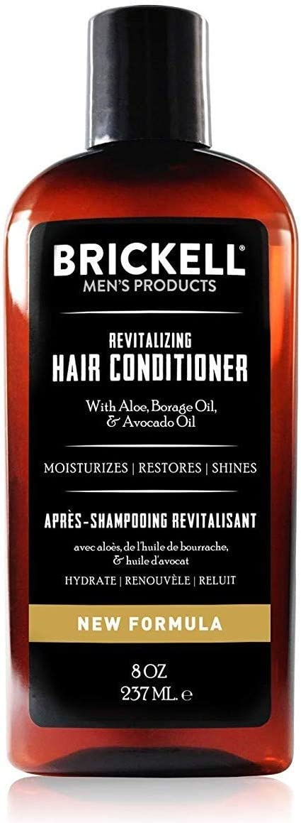 Brickell Men's Revitalizing Hair Conditioner for Men, Natural and Organic Nourishing Hair Conditioner, Restores Shine and Moisture, 8 Ounce, Scented