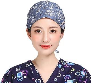 FENICAL Gorra quirúrgica Gorra quirúrgica con Estampado de algodón Ajustable Gorra Redonda de Enfermera de algodón Gorro de cirugía