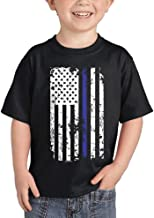 HAASE UNLIMITED Blue Line American Flag - Support Police Infant/Toddler Cotton Jersey T-Shirt