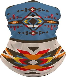 POzuem Native Southwest American Aztec Navajo Seamless 4 Neck Gaiter Summer Cooling Face Mask Headband Reusable, Seamless ...