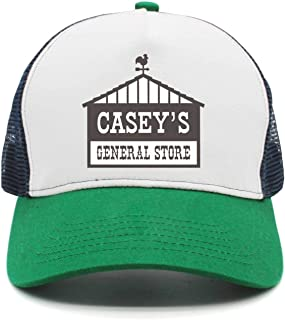 Cap Simple Casey's-General-Stores-Black-and-White-Logo- All Cotton Sports Hat for Men's Womens