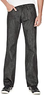 GUESS Factory Men's Rowland Medium Rise Relaxed Straight Denim Jeans