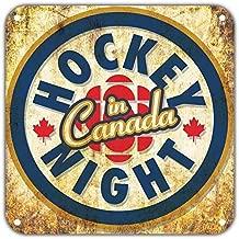 Fsdva Hockey Night in Canada Retro Wall Home Decor 8x8 Metal Signs
