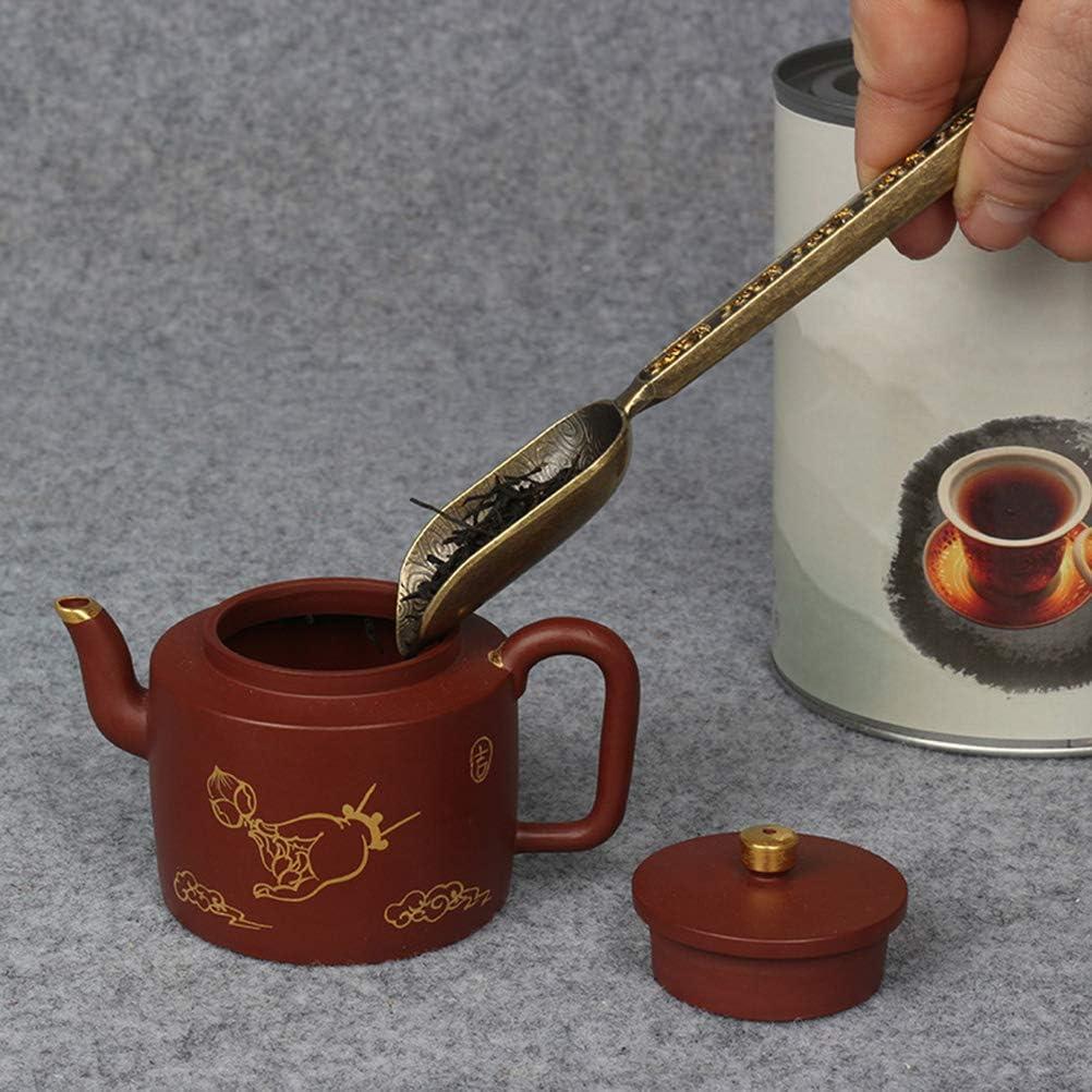 Bronzo Antico BESTOZNON Cucchiaino dosatore per t/è in Zinco a Foglia Larga in Zinco Sfuso a Forma di Foglia di Scoiattolo con Chicco di caff/è
