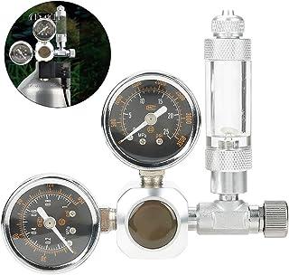 Pssopp CO2 レギュレータ圧力計 水族館 CO2レギュレーター 二酸化炭素 シンプル ゲージ 水槽 水族館 魚タンク 簡単インストール 苔植物 超精密 CO2水槽レギュレータ シルバー ステンレス鋼 アルミ合金(#2)