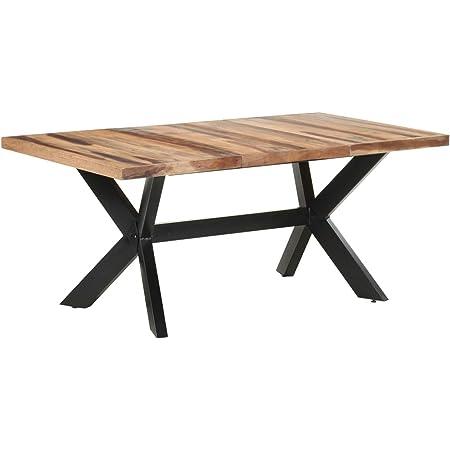 Tidyard Table de Salle à Manger, Table de Repas Meuble à Manger, Table Console Extensible 180x90x75 cm Bois Solide avec Finition