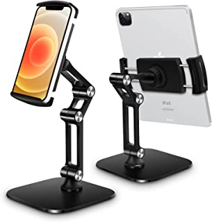 B-Land Tablet Stand Holder Adjustable, Universal Desktop Tablet Stand for Desk Foldable Phone Stand Compatible with iPad P...