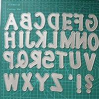 PPSM 大きな巨大なアルファベットセットダイカットの手紙の金属の切断ダイステンシルスクラップブッキングエンボス加工2019新しいクリスマスクラフトスタンプと死 (色 : 銀)