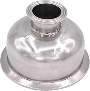 DERNORD Tri Clamp Bowl Reducer Sanitary Fitting Stainless Steel 304 (Tri Clamp Size: 4 inch x 1.5 inch)