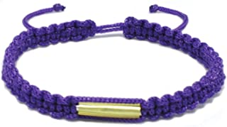 Origin Siam Handmade Thai Wristband with Brass Amulet | Blessed Woven Macrame Bracelet | for Karma Good Luck Love Friendship Yoga Meditation Mindfulness
