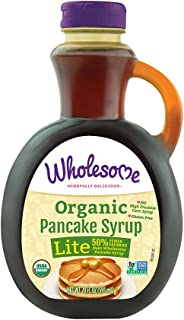 Wholesome Sweeteners Organic Pancake Syrup, Lite, 20 fl oz (Pack of 6)