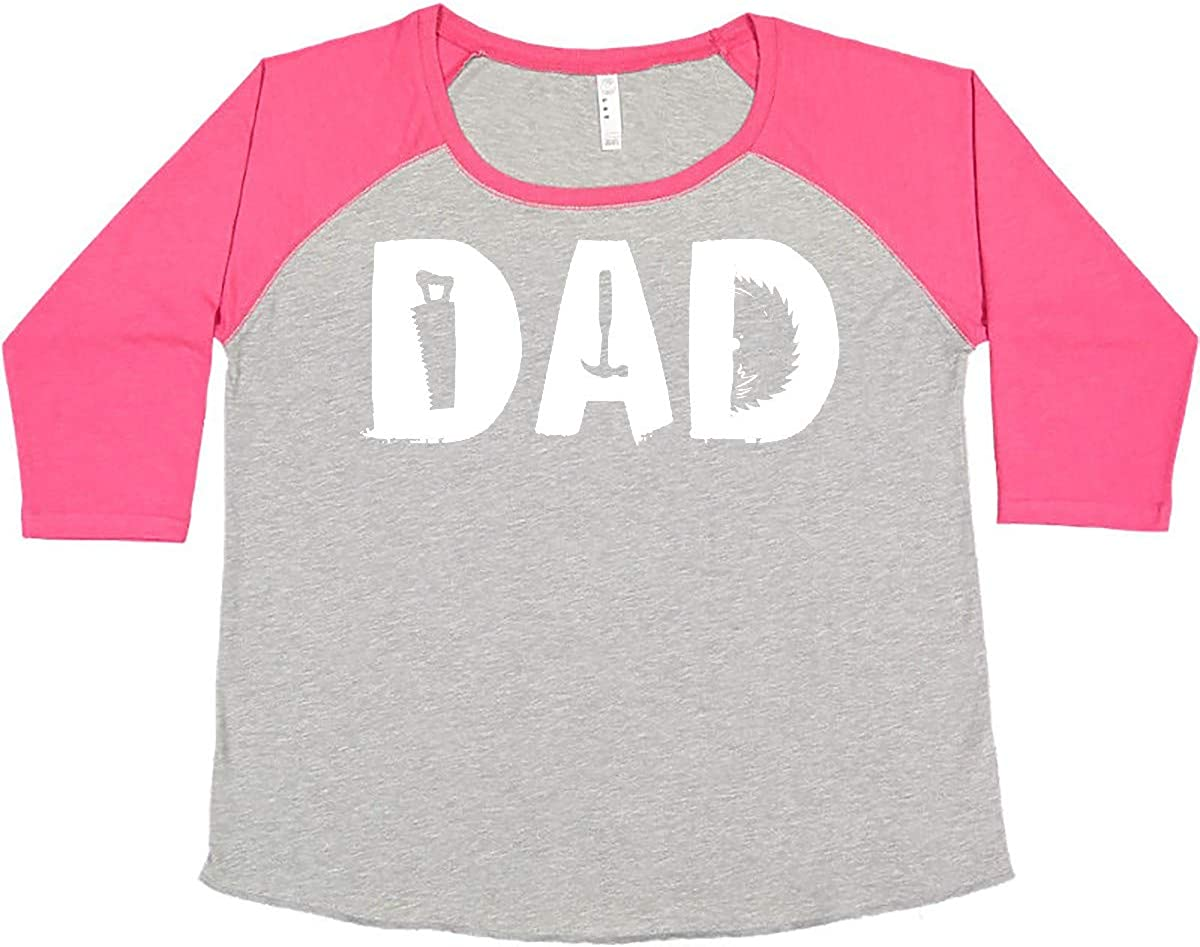 inktastic Father's Day DAD with New item Women's Shape S Max 52% OFF Plus Woodworking